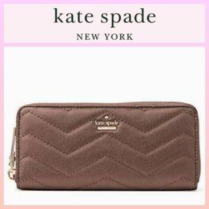 Kate Spade Reese Park Lindsey Ash Metallic Wallet